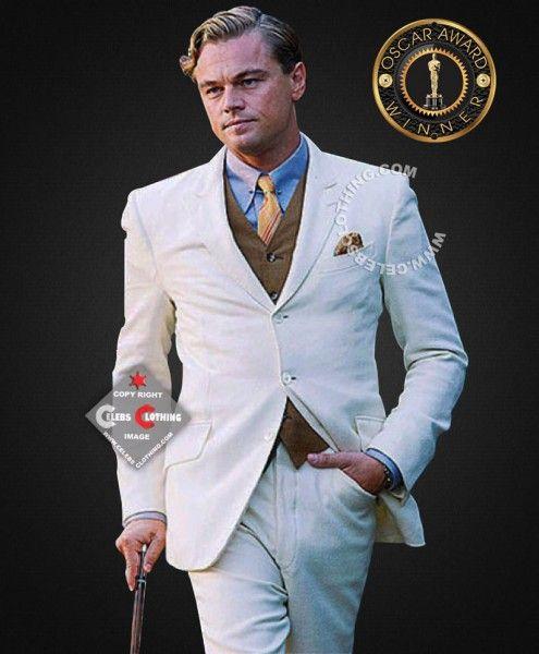 The Great Gatsby Leonardo Dicaprio off White Suit ...