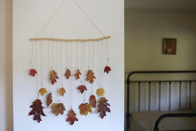 Autumn Leaves Wall Hanging Mobile Autumn Leaves Craft Autumn Leaves Art Autumn Display