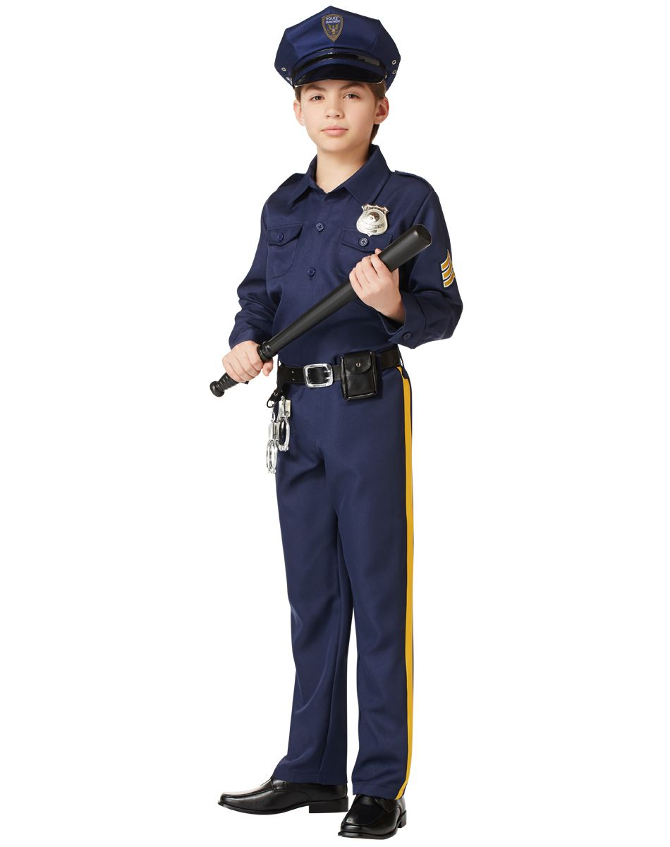 Costumes kids boys occupation military police man boys best costumes ever - Police officer child costume ...