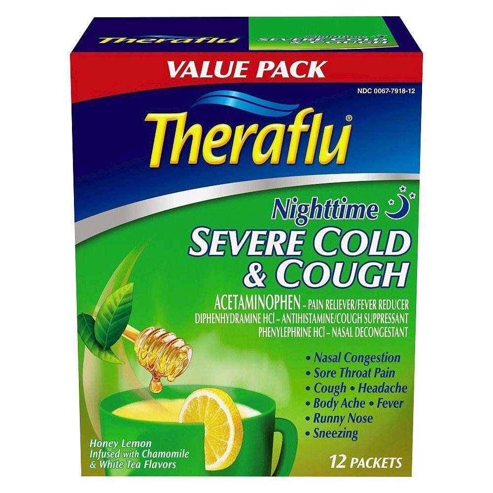Theraflu Nighttime Severe Cold & Cough Relief Powder