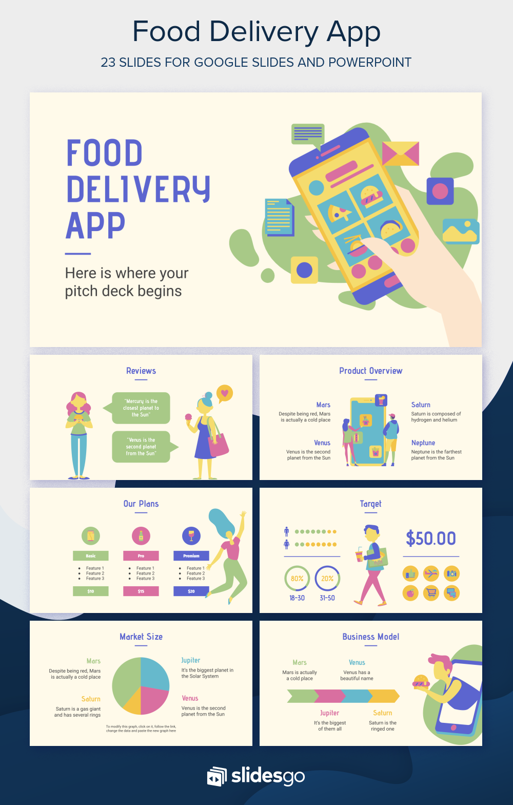 Food Delivery App Google Slides Theme And Powerpoint Template Delivery Food Powerpoint Presentation Design Powerpoint Design Templates Powerpoint Templates