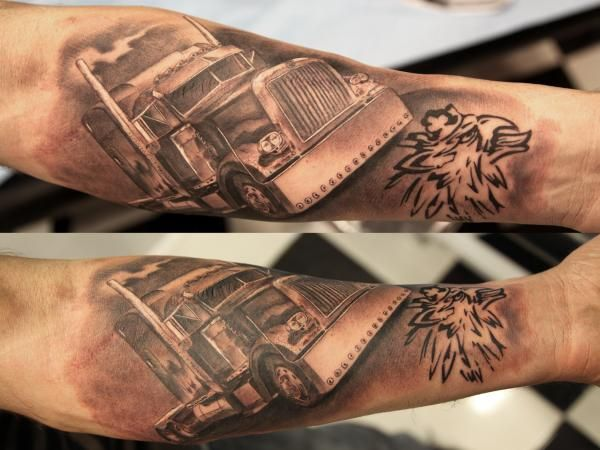 Peterbilt Tattoos Designs Google Search Truck Tattoo Trucker