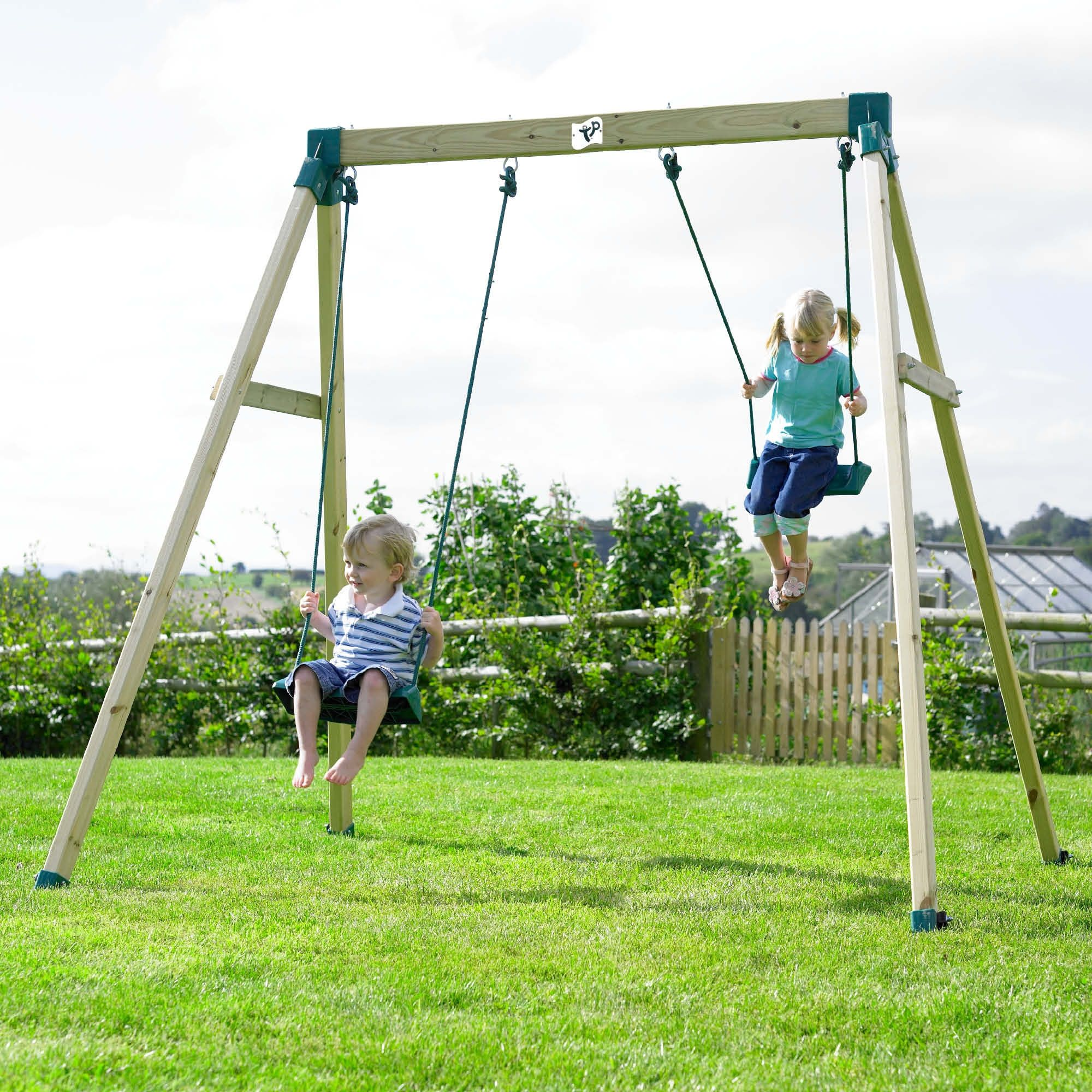 outdoor children swings | ... Double Swing 2 FSC | Climbing Frames ...