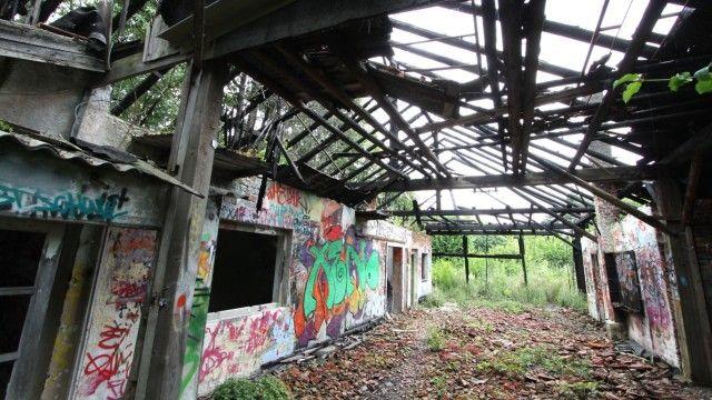 Graffiti-Malereien in der alten Ziegelei in München-Oberföhring