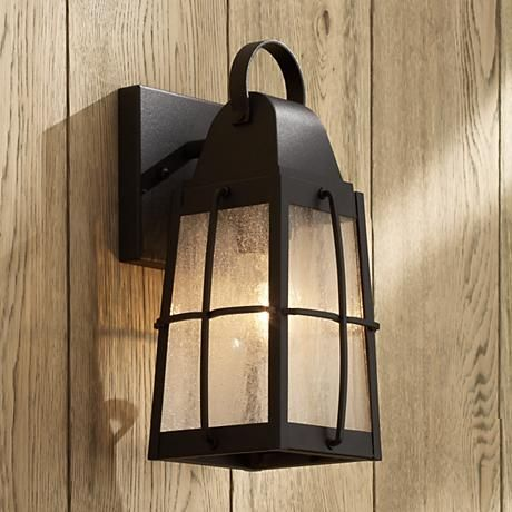 Features deep black finish to highlight clear seeded glass with spectacular effect from kichler outdoor lighting