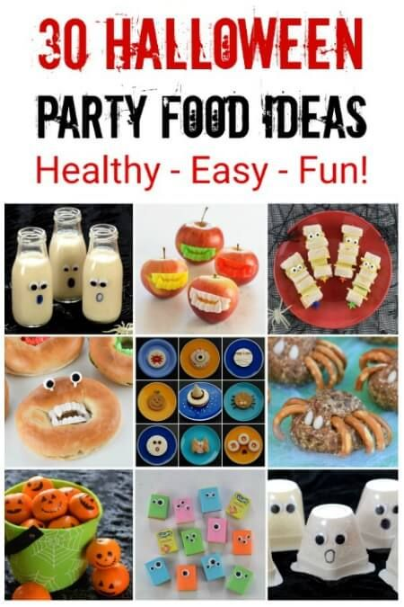 30 Healthy Halloween Party Food Recipes your kids will love - these - cheap halloween food ideas