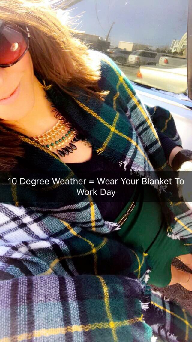Chic Blanket Scarf Look To Try Right Now!