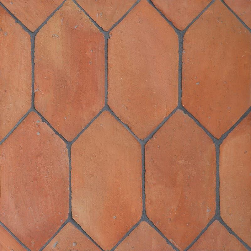Picket Shape Natural Terracotta Tiles 5x10 Country Floors Of America Llc Terracotta Floor Terracotta Tiles Flooring