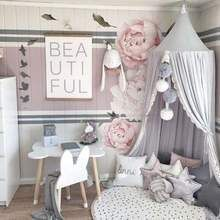 Photo of Chiffon Lace Detail Bed Canopy Net- 3 Colors –  bed canopy diy, bed canopy kids,…