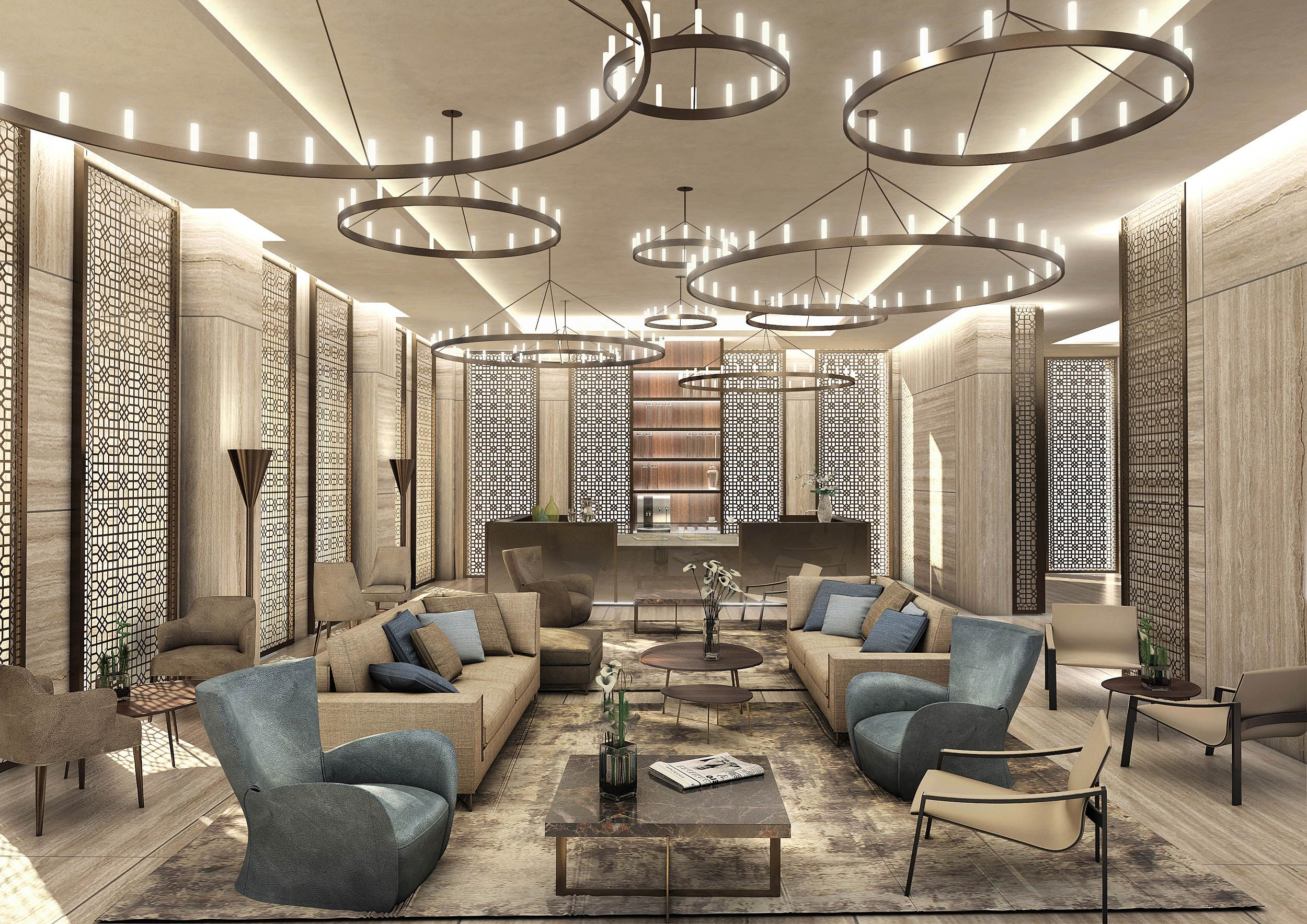 Top Interior Design Project Of A Luxury Residence Tower In Doha Hospitality Fraser Suite Best Interior Design Blogs Advanced Interior Designs Interior Design