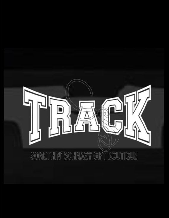 Track Vinyl Decal Car Window Decal Laptop Tablet Window - Custom vinyl decals for laptop