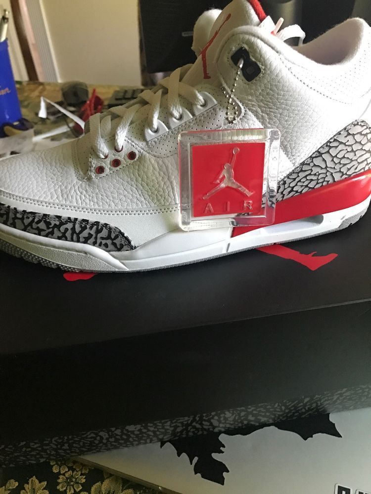 finest selection 2dd76 c6984 Air Jordan 3 Retro White Fire Red-Cement Grey Size 11 Men s US  fashion   clothing  shoes  accessories  mensshoes  athleticshoes  ad (ebay link)