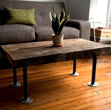 Upstairs Entry Space   Pipe Table Legs, But With Cross Members On The Short  Side · Diy Coffee ...