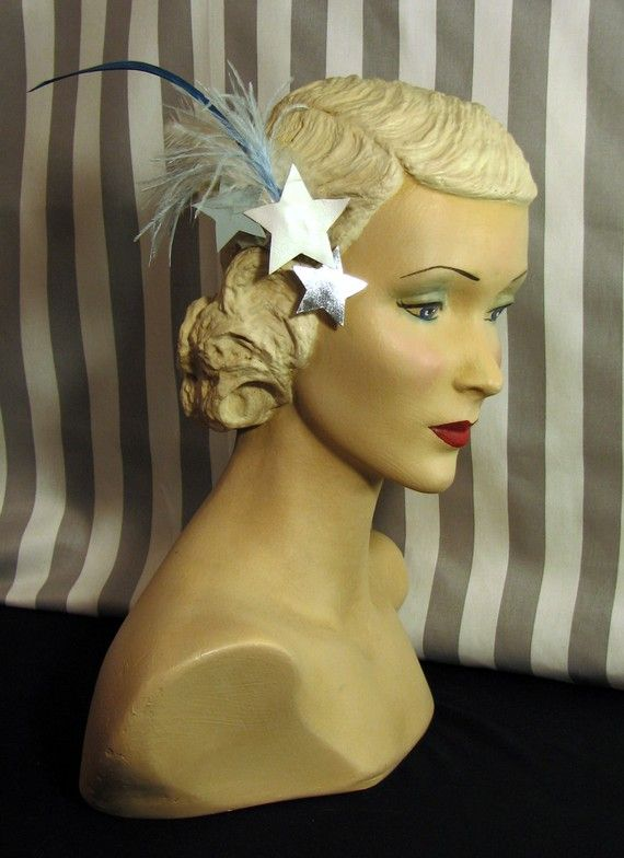 Shooting Star Fascinator Blue White and by HighLaneMillinery d2098a9f996