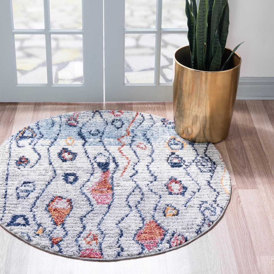Morocco Multi 3 Ft Round Area Rug In 2020 Rugs Colorful Rugs