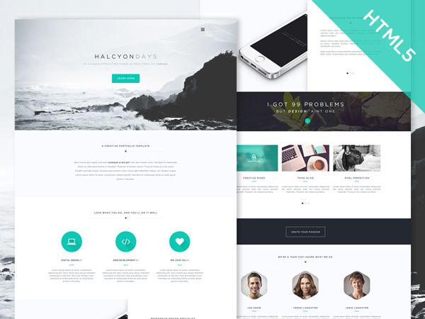 One Page Website Template Html5 Responsive Free Download from i.pinimg.com
