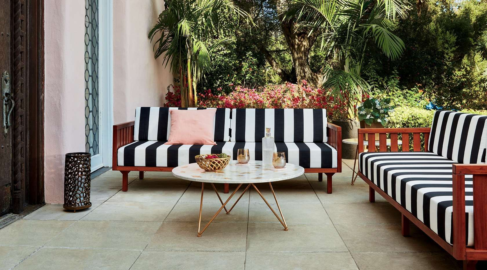 Make a statement with modern patio furniture and décor from cb2 browse outdoor furniture