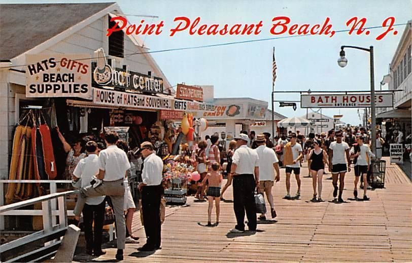 1960u0027s View Of The The Point Pleasant Beach Boardwalk