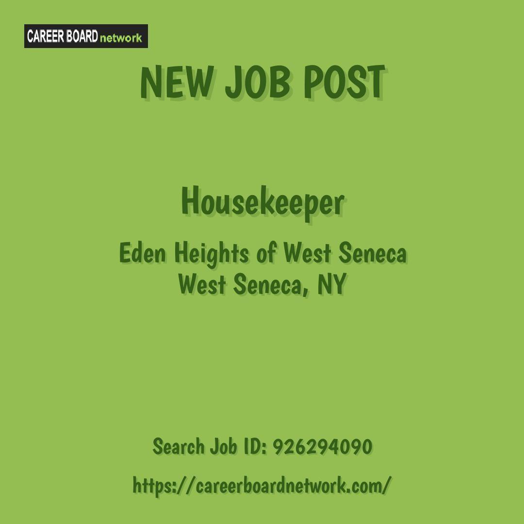 Housekeeper eden heights of west seneca west seneca ny