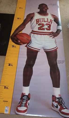 1987 Michael Jordan Life Size Height Measuring Poster