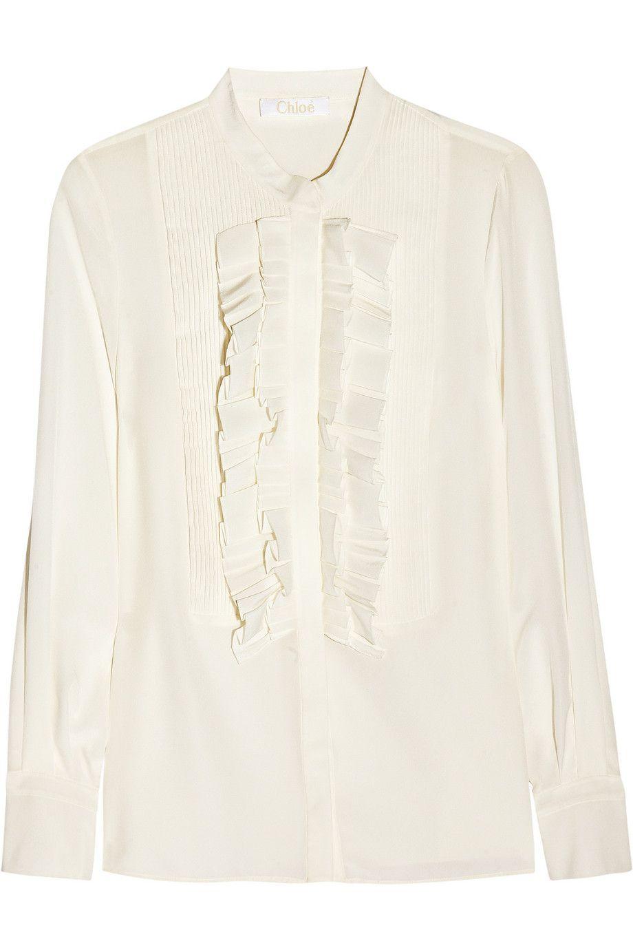 Chloé - Ruffled silk crepe de chine blouse