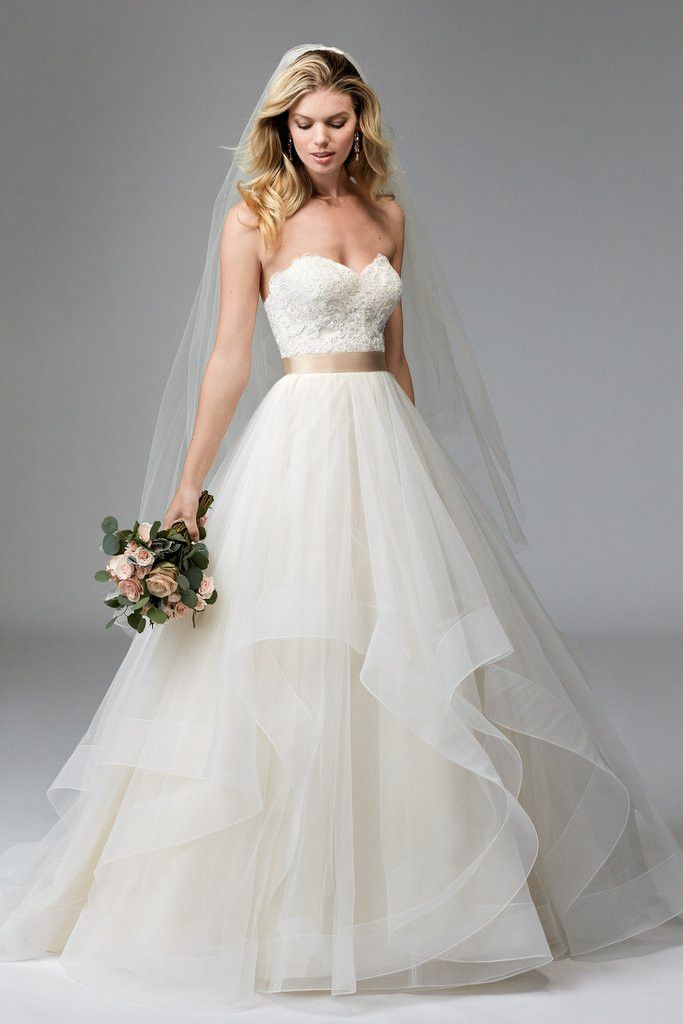 Watters At Bridal Galleria Of Texas Wtoo Wedding Dress Ball Gowns Wedding Tulle Wedding Dress