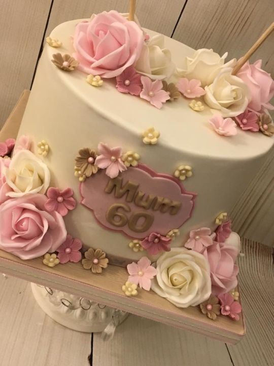 Magnificent 60Th Birthday Cake Con Imagenes Pastel Para Mama Cumpleanos Funny Birthday Cards Online Fluifree Goldxyz