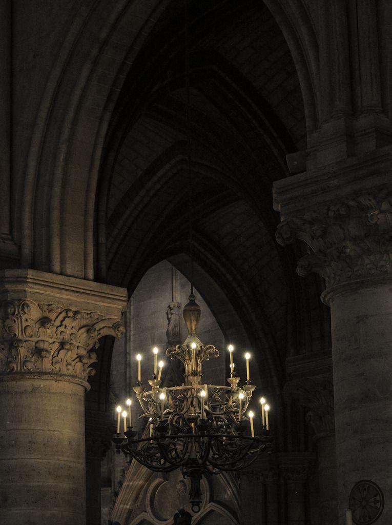 A Chandelier in Notre Dame, Paris