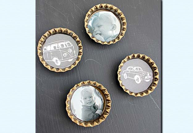 50 diy projects you can make in under an hour magnets tutorials easy do it yourself crafts for the home upcycled diy bottlecaps magnets tutorial diy projects solutioingenieria Choice Image