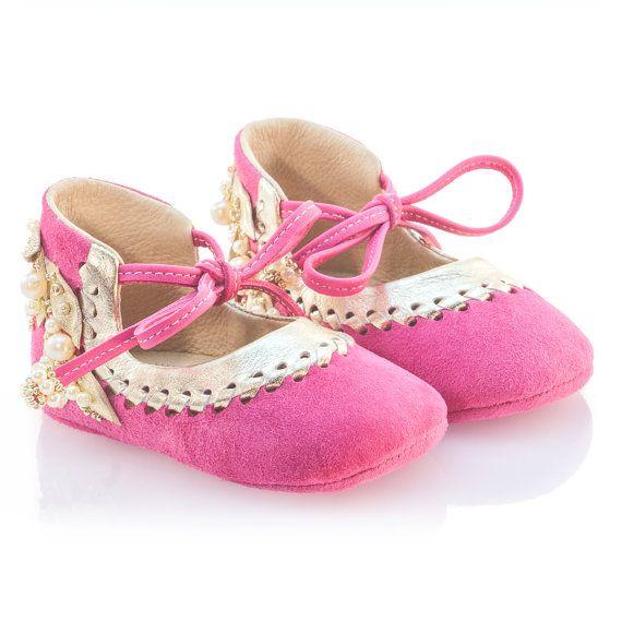 Rosa oro zapatos niña bebé mocasines zapatos recién nacido