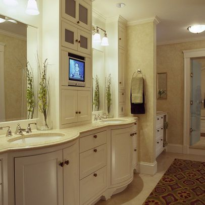 Traditional Home Bathroom Tv Design Ideas Pictures Remodel And