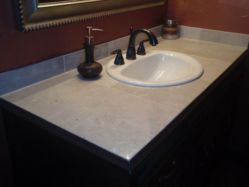 Great Custom Tile Vanity Top   Fresh Ideas Home Improvement