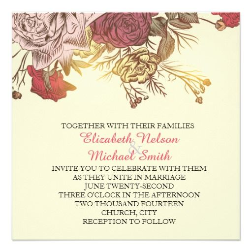 Luxury Wedding Reception With A Perfect And Awesome: Spring Flowers Wedding Invite