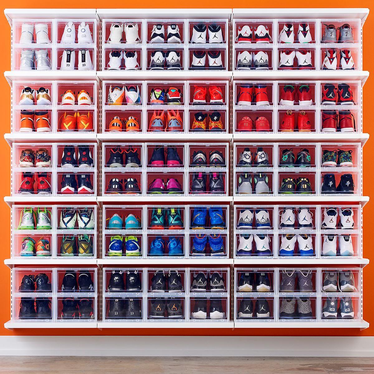 High Storage Men S Drop Front Shoe Box Container