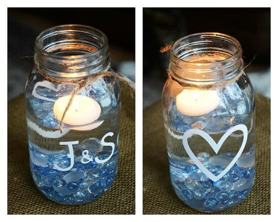 Wedding or anniversary party centerpieces via etsy party planning