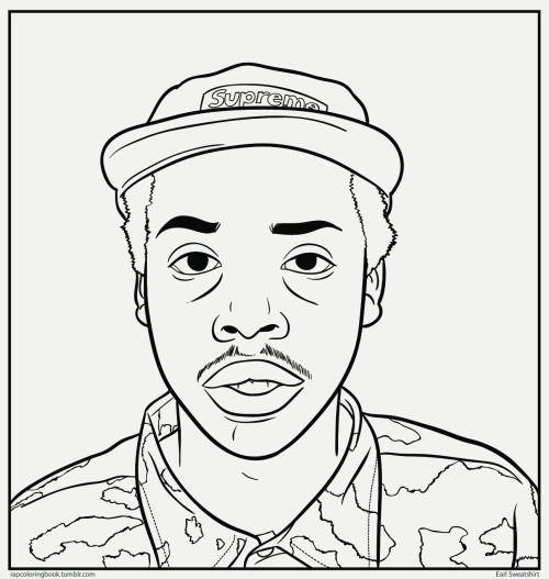 Line Art Creator : Earl sweatshirt drawing google search d r a w i n g s