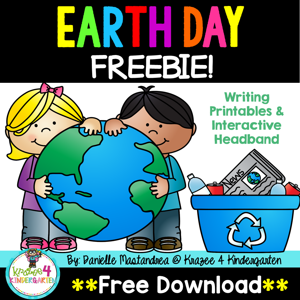 Earth Day Freebie Includes Printables And Interactive Headband Writing Printables Earth Day Activities Earth Day [ 960 x 960 Pixel ]