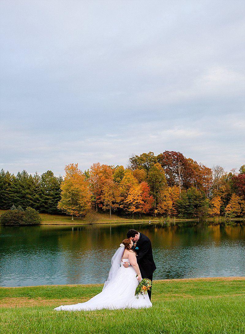 Shade trees and evergreen fall wedding maryland wedding venues
