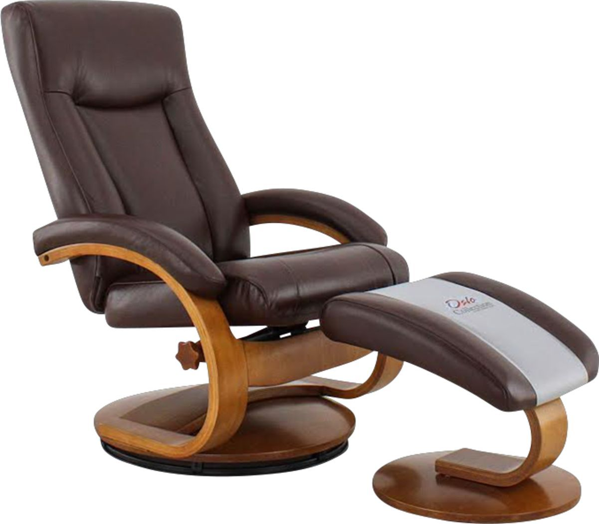 Oslo Collection Hamar Brown Recliner Ottoman Recliner With Ottoman Swivel Recliner Brown Leather Recliner