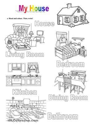 14++ Kindergarten worksheets rooms of the house Images