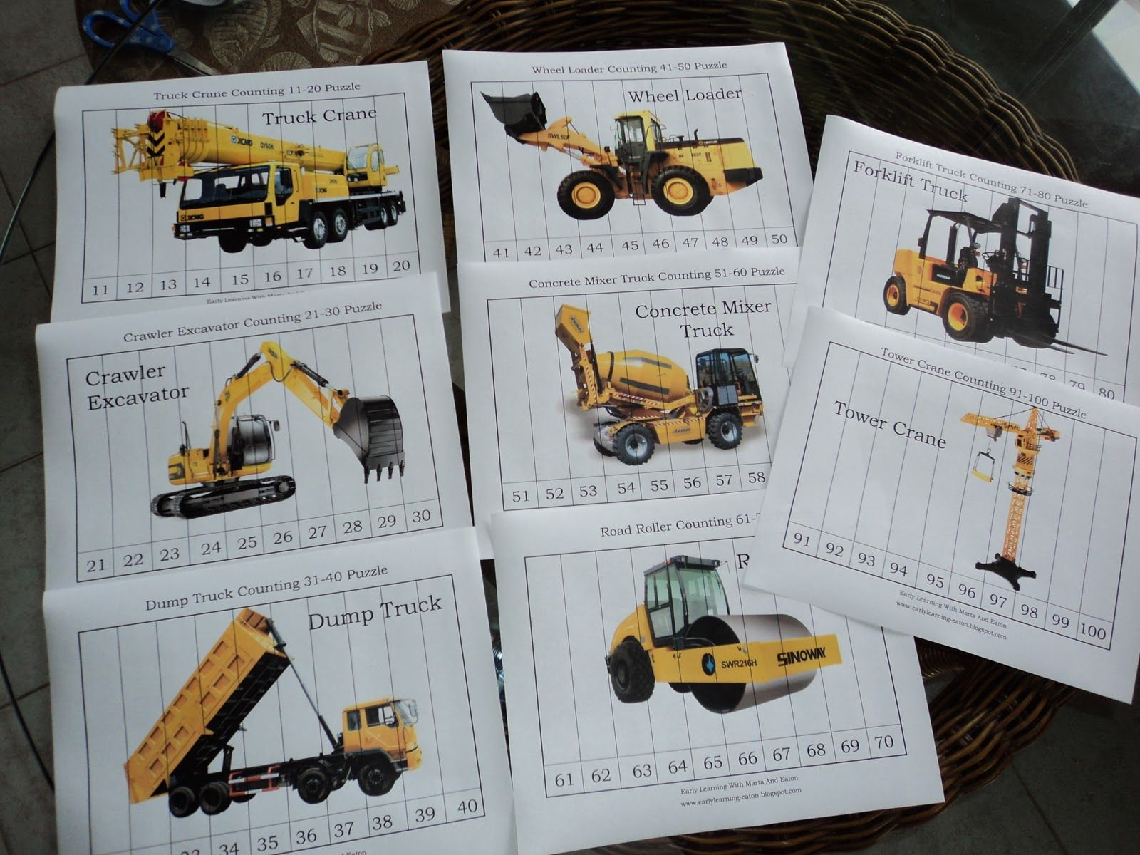 Construction Puzzle Printables Would Probably Only Use The First One Since For Some Reason They