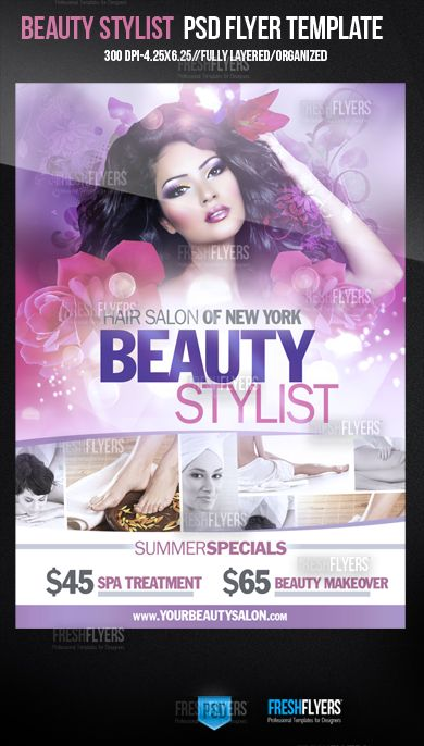 Beauty Salon Flyer Template Hairsaloonflyertemplatepsd - Hair salon brochure templates