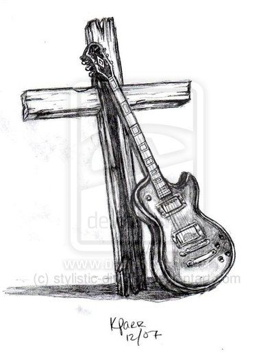 guitar and cross by ~stylistic-division on deviantART For