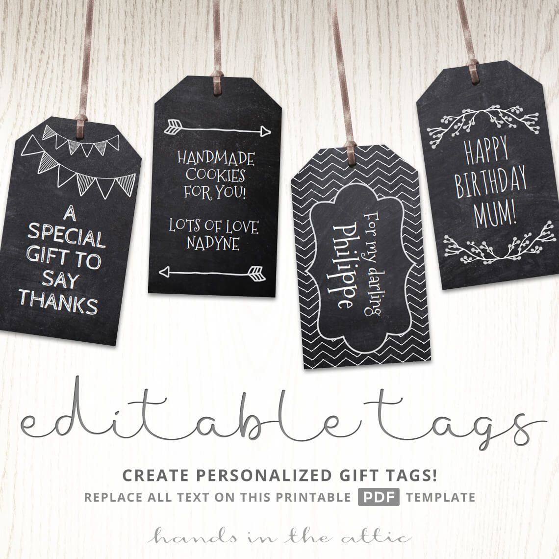 Chalkboard Gift Tags | Chalkboards, Gift tags printable and Gift