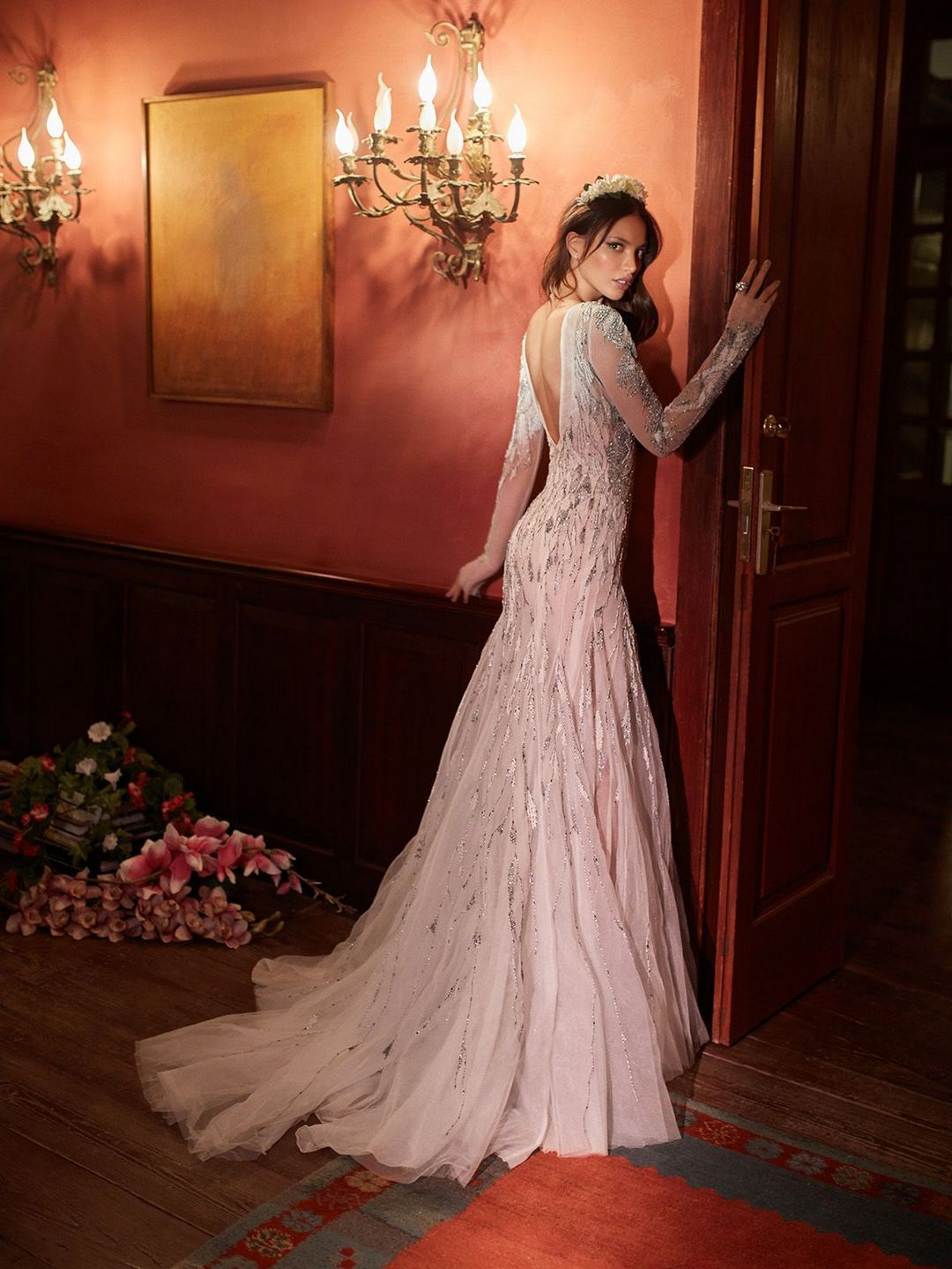 Wedding dress lace sleeves    Trends you need to know White Lace Sleeves Pink Tulle Long