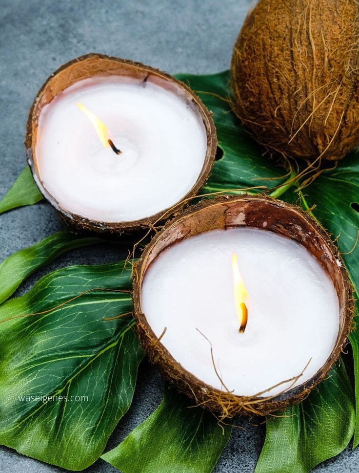 DIY Kokosnuss Kerzen | Kerzen gießen | Kerzen selber machen