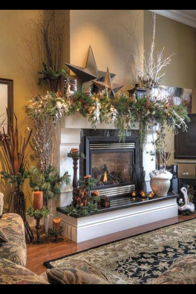 Fireplace French Provincial Furniture Pinterest Holiday decorating