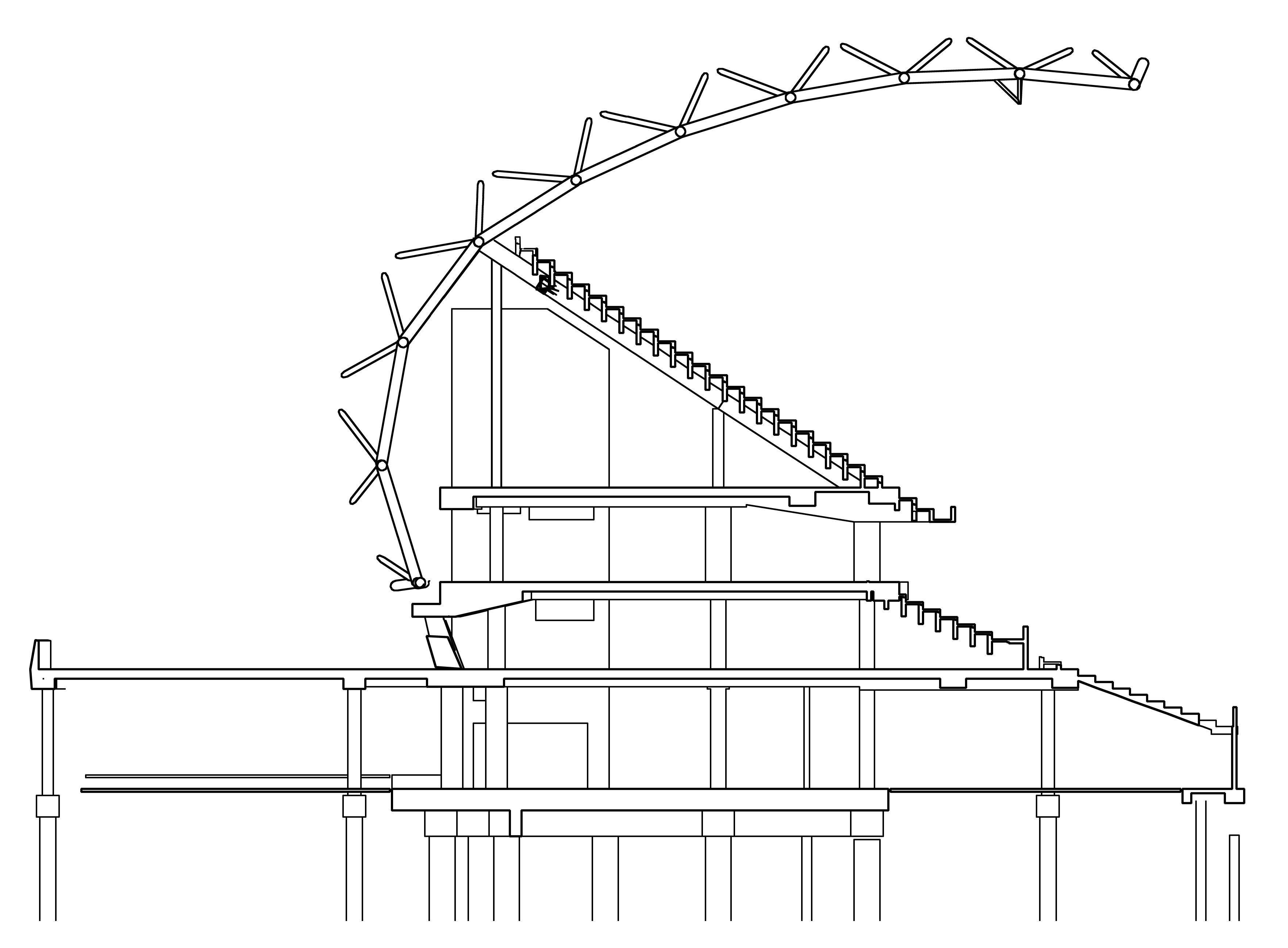 taiwan solar stadium bldg section structure pinterest toyo