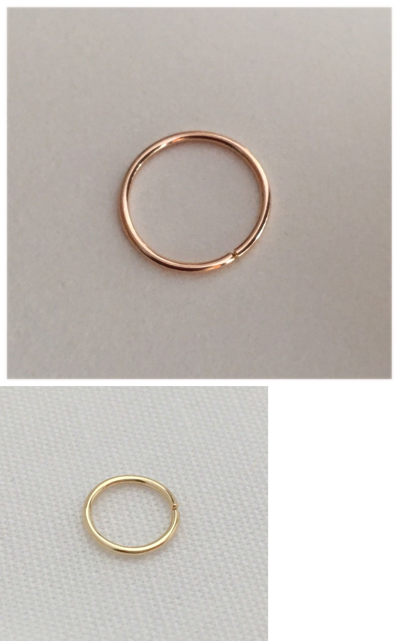 Body piercing jewelry  Body Piercing Jewelry  Nose Ring Solid Goldkt      Mm