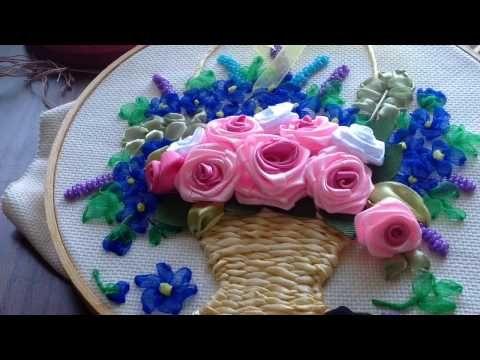 السلام عليكم ورحمة الله وبركاته طريقة عمل السبت My Channel Amany Ribbon Arts Https Www Youtube Com Cha Ribbon Art Silk Ribbon Embroidery Ribbon Embroidery